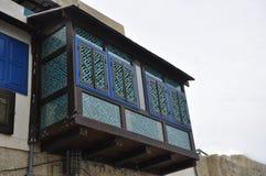 Casas Balconied en Estambul imágenes de archivo libres de regalías
