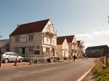 Casas barco en único viejo de madera del maldon tollesbury Imágenes de archivo libres de regalías