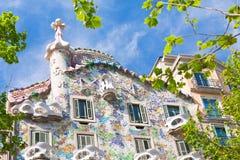 Casas Batllo, Barcelona imagens de stock
