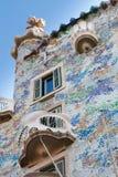 Casas Batllo de Antonio Gaudi en Barcelona, España Fotos de archivo