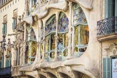 Casas Batllo de Antonio Gaudi en Barcelona, España imagen de archivo