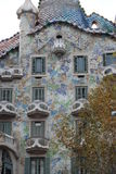 Casas Batllo, Gaudi Foto de Stock Royalty Free
