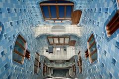 Casas Battlo de Gaudi en Barcelona Imagen de archivo libre de regalías