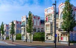 Casas belgas en Vlissingen, Países Bajos Fotografía de archivo libre de regalías