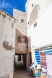 Casas blancas en Essaouira, Marruecos Foto de archivo libre de regalías