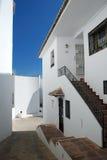 Casas blancas en Málaga Fotos de archivo