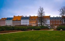 Casas bonitas acolhedores em Dinamarca Imagem de Stock Royalty Free