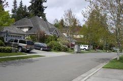 Casas bonitas da vizinhança Fotografia de Stock Royalty Free