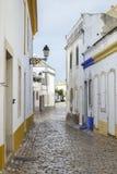 Casas brancas em Faro, Portugal Imagem de Stock Royalty Free