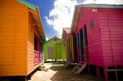 Casas brilhantes em México imagem de stock
