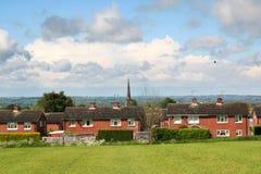 Casas británicas típicas Imágenes de archivo libres de regalías