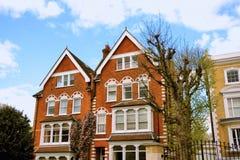 Casas británicas típicas Fotografía de archivo libre de regalías