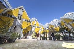 Casas cúbicas em Rotterdam imagem de stock
