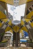 Casas cúbicas em Rotterdam fotografia de stock royalty free