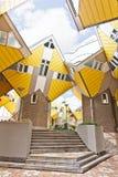 Casas cúbicas en Rotterdam Imágenes de archivo libres de regalías