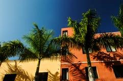Casas (canarias) coloridas Imagen de archivo libre de regalías