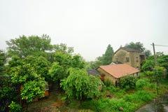 Casas chinas de la aldea imagen de archivo libre de regalías