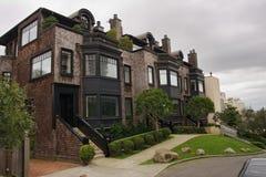 Casas clássicas no monte do russo em San Francisco Imagem de Stock Royalty Free