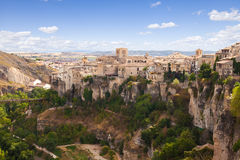 Casas Colgadas of Cuenca, Spain Royalty Free Stock Photos