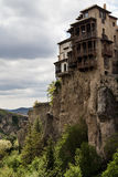 Casas colgadas Cuenca,Spain. View of casas colgadas Cuenca,Spain Royalty Free Stock Images