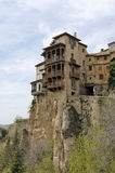 Casas Colgadas. (hanging houses) in the medieval town of Cuenca, in La Mancha, Spain Royalty Free Stock Image
