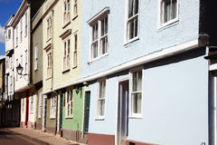 Casas colgantes georgianas y medievales, Hastings, Foto de archivo