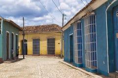 Casas coloniais em Trinidad, Cuba Fotos de Stock Royalty Free