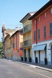 Casas coloreadas Fotografía de archivo libre de regalías
