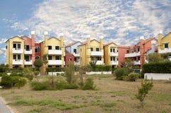 Casas coloreadas Imagen de archivo libre de regalías