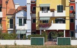 Casas coloreadas Foto de archivo libre de regalías