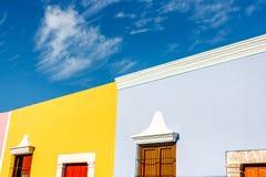 Casas coloreadas en Campeche, México fotografía de archivo libre de regalías