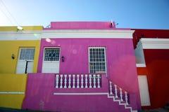 Casas coloreadas en Ciudad del Cabo Foto de archivo libre de regalías