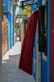 Casas coloreadas en Venecia Italia Imágenes de archivo libres de regalías