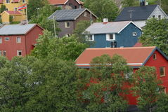 Casas coloridas Imagen de archivo libre de regalías
