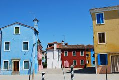 Casas coloridas Foto de Stock Royalty Free