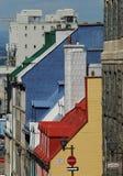 Casas coloridas imagem de stock royalty free