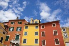 Casas coloridas fotografía de archivo