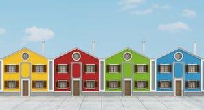 Casas coloridas Fotos de Stock