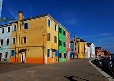 Casas coloridas foto de stock