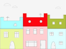 Casas coloridas libre illustration
