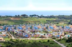 Casas coloridas Albufeira, o Algarve, Portugal Imagem de Stock