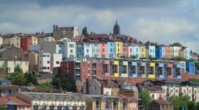 Casas coloridas, Bristol Harbourside, Inglaterra imágenes de archivo libres de regalías