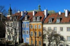 Casas coloridas da cidade velha de Warsawa fotografia de stock royalty free