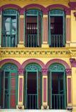 Casas coloridas da loja do chinês Imagem de Stock