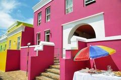 Casas coloridas de BO Kaap imagem de stock