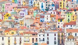 Casas coloridas de Bosa imagens de stock