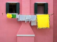 Casas coloridas de Burano Fotos de archivo libres de regalías