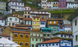 Casas coloridas de spain em cudillero Imagens de Stock