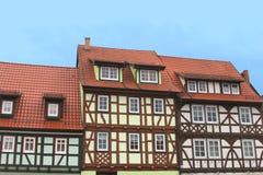 Casas coloridas del fachwerk Imagenes de archivo