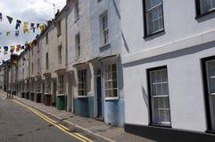 Casas coloridas em Chepstow Fotos de Stock Royalty Free